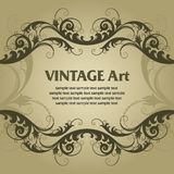 Vintage template frame Royalty Free Stock Photo