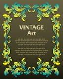 Vintage template frame stock illustration