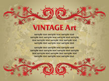Vintage template frame Royalty Free Stock Images