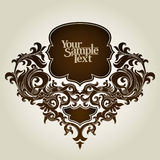 Vintage template frame Stock Photography