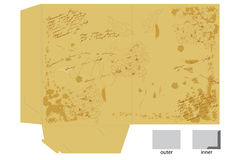 Vintage template for map. Design Royalty Free Stock Images