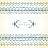 Vintage template with ornamental borders. Template with ornamental border and calligraphic decorative frame Stock Photos