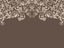 Vintage template with pattern and ornate borders. Ornamental lac Stock Photography
