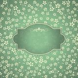 Vintage template with pattern and ornate borders. Stock Photos