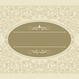 Vintage template with pattern and ornate borders. Ornamental lace pattern for invitation, greeting card, certificate royalty free illustration