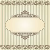 Vintage template with pattern and ornate borders. Ornamental lace pattern for invitation, greeting card, certificate Stock Photography
