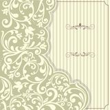Vintage template with pattern and ornate borders. Ornamental lace pattern for invitation, greeting card, certificate Stock Photo