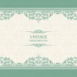 Vintage template with pattern and ornate borders. Ornamental lace pattern for invitation, greeting card, certificate. Vintage template with pattern and ornate stock illustration