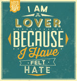 Vintage Template - Retro Design - Quote Typographic Background Stock Image