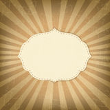 Vintage Template With Sunbeams Stock Photo