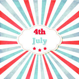 Vintage template for 4th of July with frame. Stars and lines Stock Images