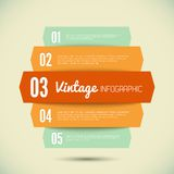 Vintage template for your infographic. 3D Vintage template for your infographic Vector illustration Royalty Free Stock Photos