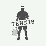 Vintage tennis or sport motivational poster Stock Images