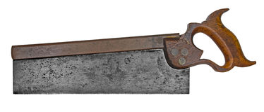 Vintage tenon back saw Stock Images