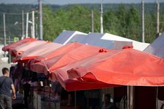 Vintage tent the red tent the traditional white red stock images