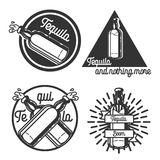 Vintage tequila emblems Royalty Free Stock Photo