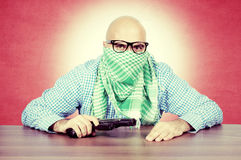 Vintage terrorist Royalty Free Stock Photography