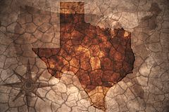 Vintage Texas state map Stock Image
