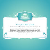 Vintage text frame with border Royalty Free Stock Photo