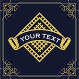 Vintage Text Label Vector Template Design. Illustration royalty free illustration