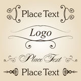 Vintage text set Royalty Free Stock Image