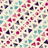 Vintage textile geometric. Seamless pattern. Royalty Free Stock Photo