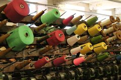 Vintage Textile Machine. Royalty Free Stock Image