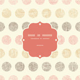 Vintage textile polka dots frame seamless pattern Stock Photo
