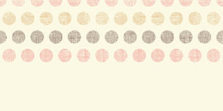Vintage textile polka dots horizontal border Stock Photography