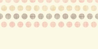 Vintage textile polka dots horizontal border Stock Photography