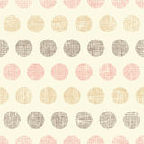 Vintage textile polka dots seamless pattern Royalty Free Stock Images