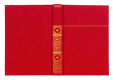 Vintage textile red book cover Royalty Free Stock Photos