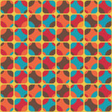 Vintage textile. Seamless colorful pattern inspired by retro style Royalty Free Stock Images