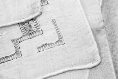 Vintage textile texture with beautiful embroidery Royalty Free Stock Photo