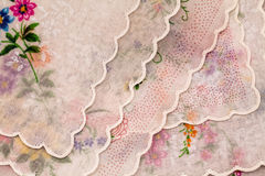 Vintage textile texture with beautiful embroidery Stock Photography