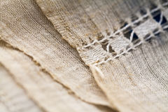Vintage textile texture with beautiful embroidery Royalty Free Stock Images