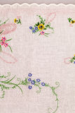 Vintage textile texture with fine embroidery Stock Photography