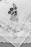 Vintage textile texture with fine embroidery Royalty Free Stock Photo