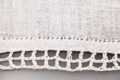 Vintage textile texture with fine embroidery Stock Photos