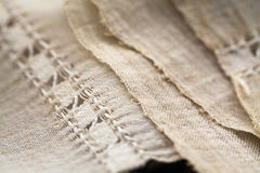 Vintage textile texture with fine embroidery Royalty Free Stock Photos