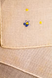 Vintage textile texture with fine embroidery Royalty Free Stock Images