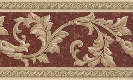 Vintage textile wallpaper detail Stock Photos