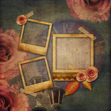 Vintage texture background with watch (time) Royalty Free Stock Photos