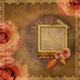 Vintage texture background with watch (time) Stock Image