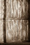 Vintage texture boards of an old wooden barrel Stock Photography