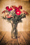 Vintage texture bouquet of flowers Royalty Free Stock Photo