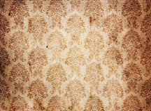 Vintage texture canvas old fabric. Vintage brown background texture canvas old fabric with damask style Stock Photography