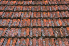 Vintage texture ceramic roof shingles Stock Photos