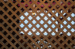 Vintage texture of fence in Arabic style. High quality Royalty Free Stock Photo