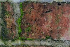 Vintage texture of old brickwork in close view stock photography